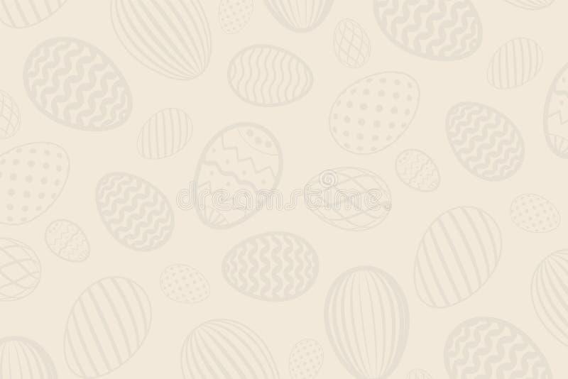 Mod?le d'oeuf de p?ques Texture d'oeufs de vacances de couleur sur le fond en pastel Calibre d?coratif abstrait simple Joyeuses P illustration de vecteur