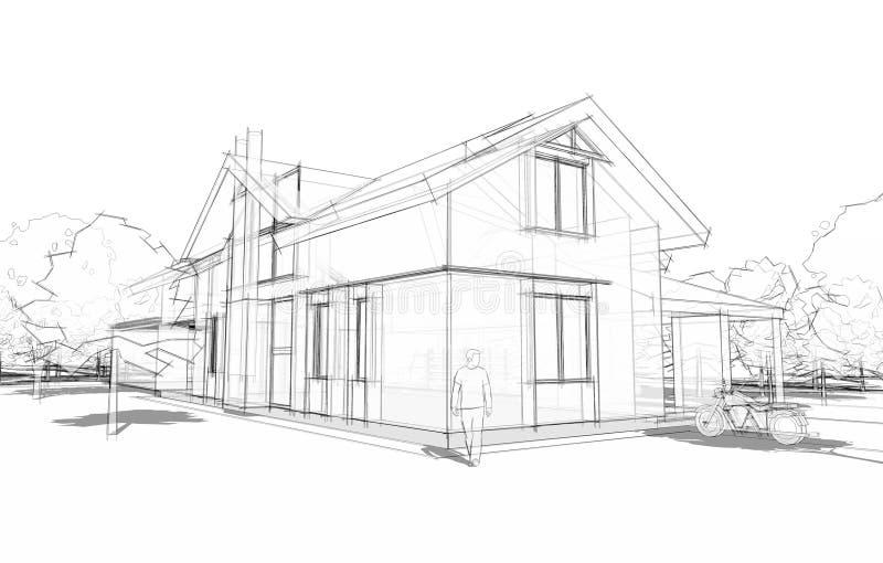 Mod?le d'une maison illustration libre de droits