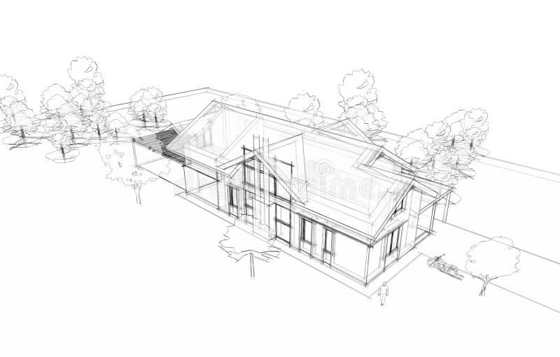 Mod?le d'une maison illustration stock