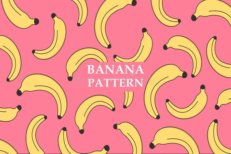Mod?le de banane de vecteur Le visage des femmes tir?es par la main d'illustration Affiche, bannière, papier d'emballage, décor à illustration de vecteur