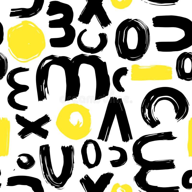 Mod?le de courses de brosse Fond abstrait avec des courses de brosse Texture fabriqu?e ? la main peinte par encre Textile, décora illustration de vecteur