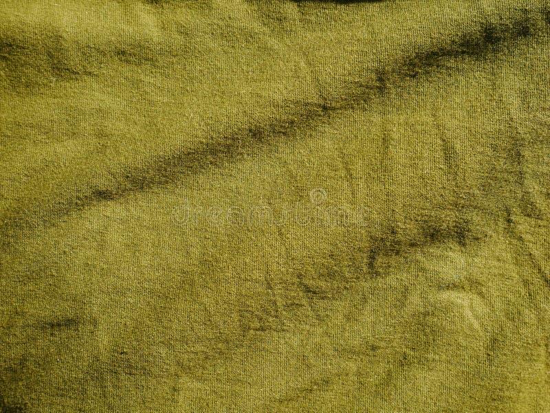 Mod?le de fond de texture Kaki en soie de tissu, vert, gris de champ Drapez, draperie photo stock