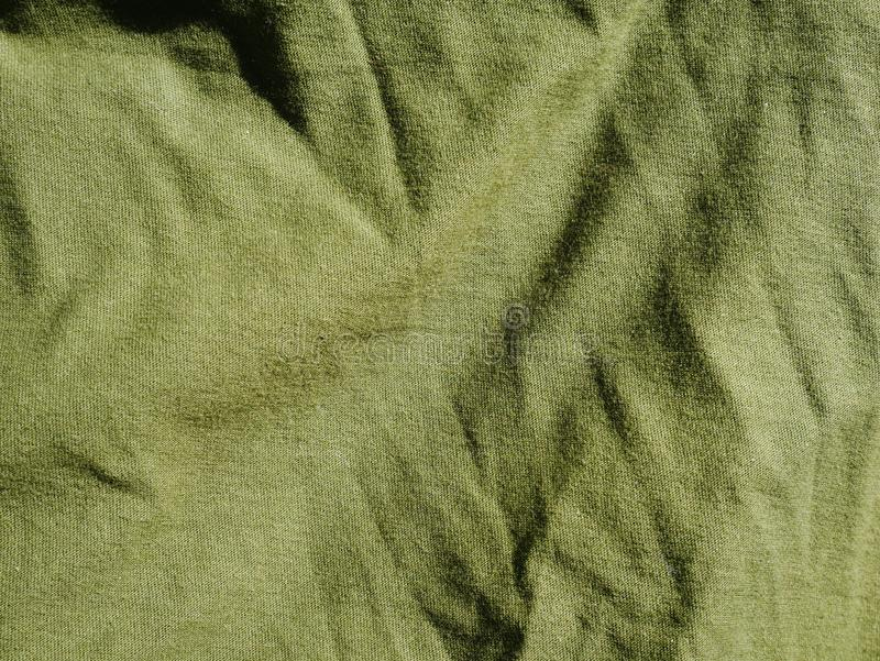 Mod?le de fond de texture Kaki en soie de tissu, vert, gris de champ Drapez, draperie image libre de droits