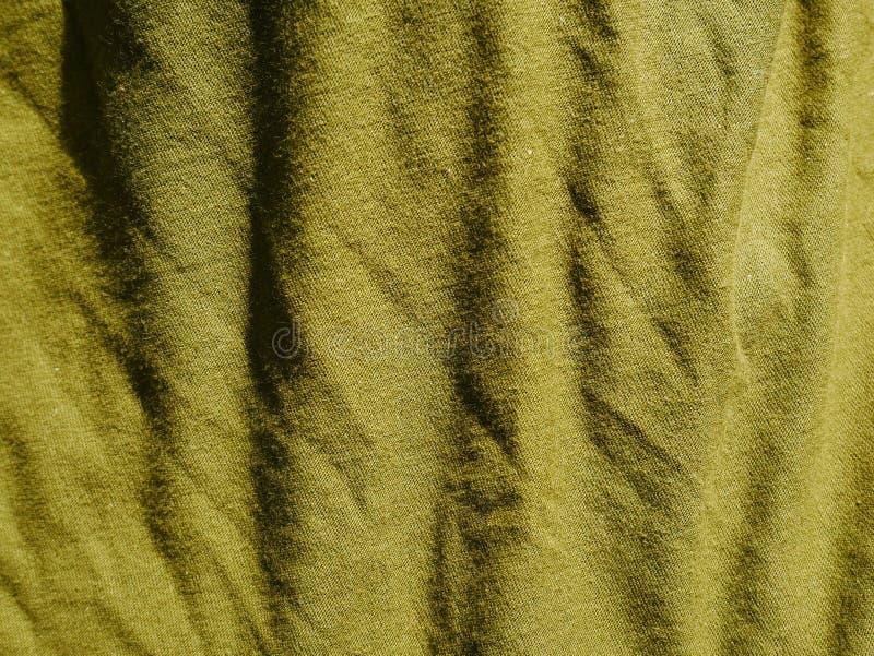 Mod?le de fond de texture Kaki en soie de tissu, vert, gris de champ Drapez, draperie image stock