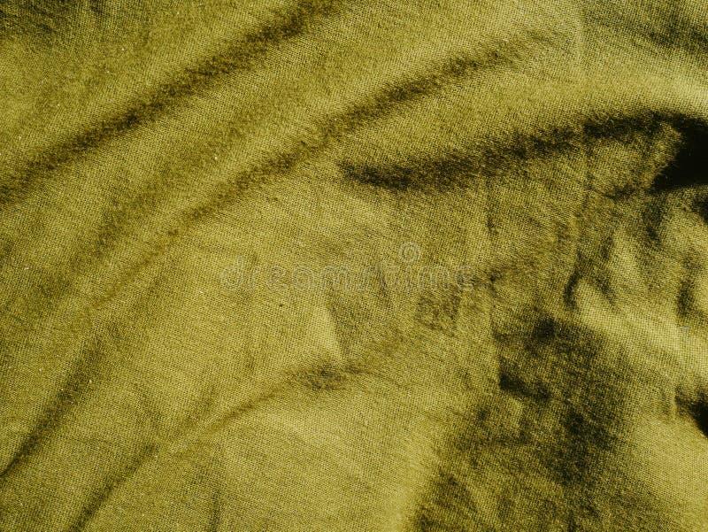Mod?le de fond de texture Kaki en soie de tissu, vert, gris de champ Drapez, draperie photo libre de droits