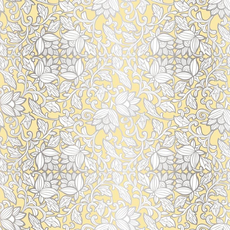Mod?le de luxe sans couture avec des fleurs Mod?le floral pour des invitations, cartes, copie, enveloppe de cadeau, fabrication,  illustration stock