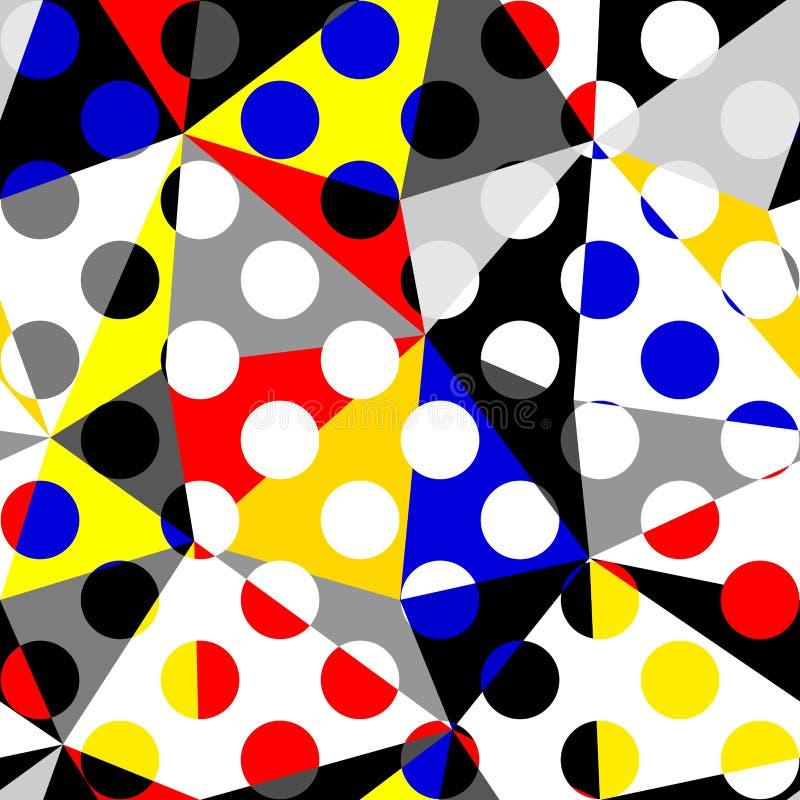 Mod?le de point classique de polka dans un style de collage de patchwork illustration libre de droits