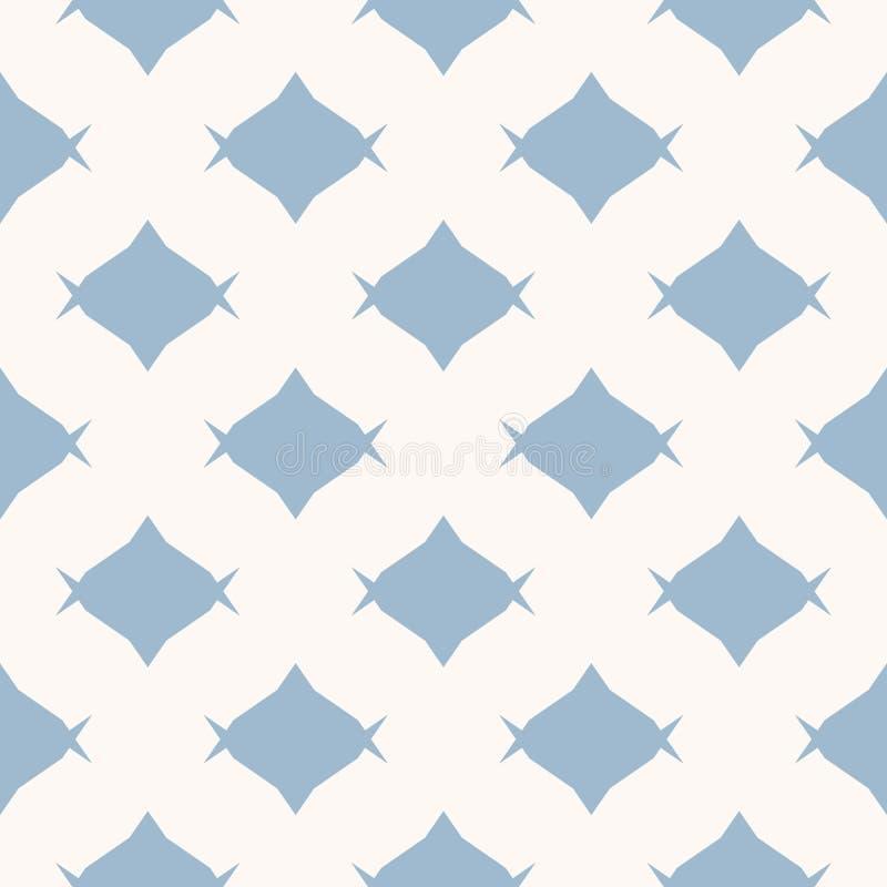 Mod?le de sucrerie Texture sans couture abstraite simple de vecteur minimaliste de bleu et blanc illustration libre de droits
