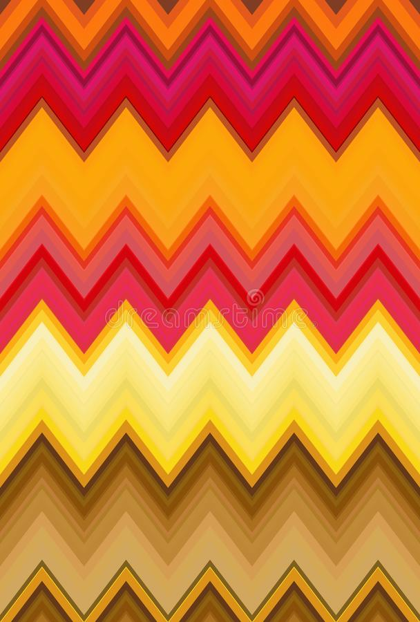 Mod?le de vague multicolore d'arc-en-ciel de zigzag multihued illustration stock