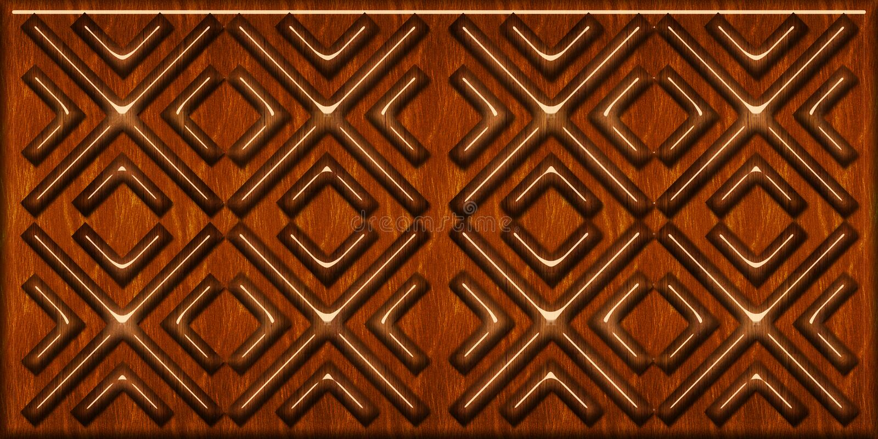 Mod?le en bois de tuiles formes géométriques en bois, carrelage en bois Texture r?aliste sans couture de haute qualit? Pour le mu photos libres de droits