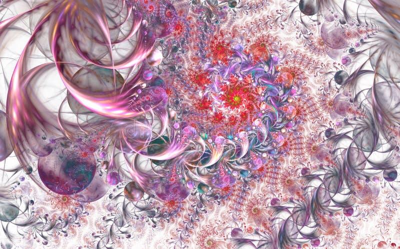 Mod?le floral abstrait infini f?erique Couleurs lumineuses et texture de scintillement illustration stock