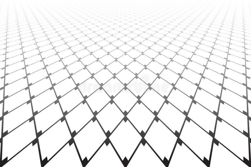 Mod?le g?om?trique abstrait de diamants Point de vue de diminution illustration de vecteur