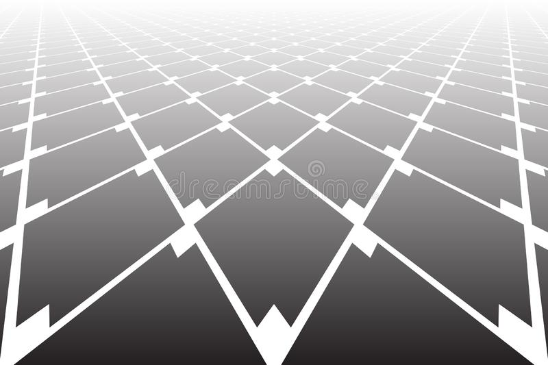 Mod?le g?om?trique abstrait de diamants Point de vue de diminution illustration stock