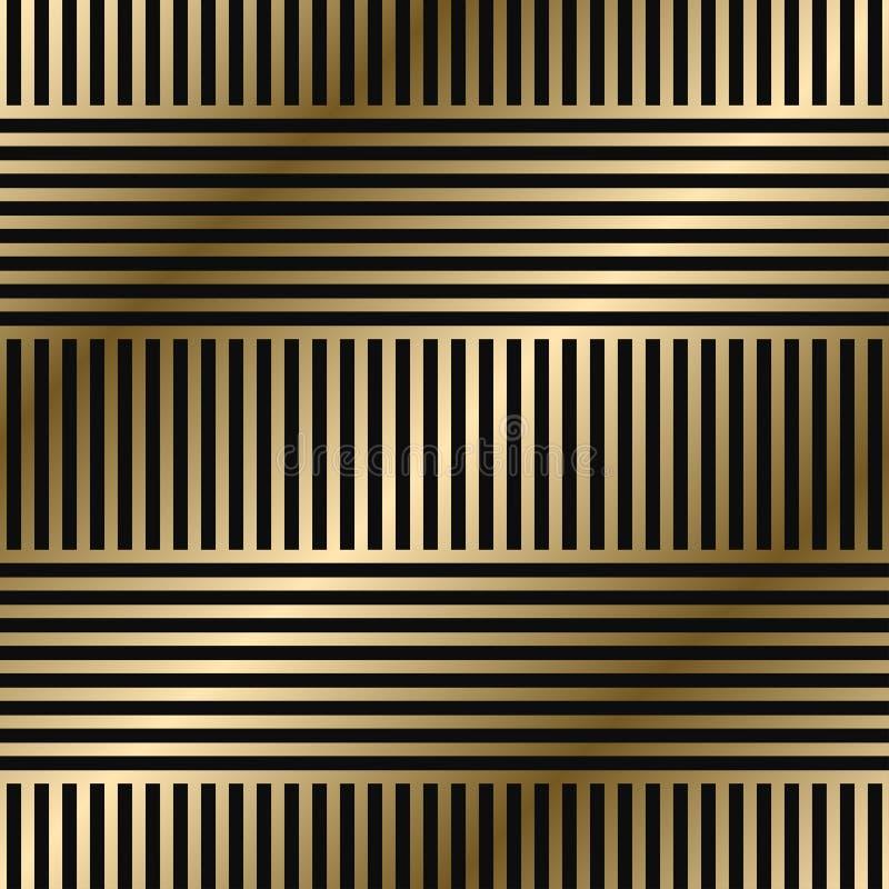 Mod?le ray? g?om?trique de vecteur - conception de luxe sans couture de gradient d'or Fond simple sans fin riche illustration de vecteur