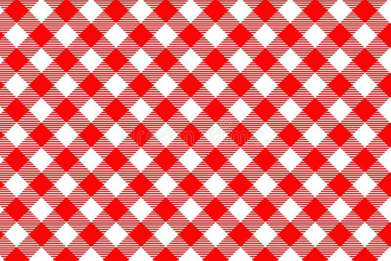 Mod?le rouge de guingan Texture de losange/de places pour - le plaid, nappes, v?tements, chemises, robes, papier, literie, couver photographie stock