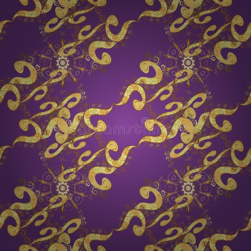 Mod?le royal floral m?di?val sans couture illustration stock