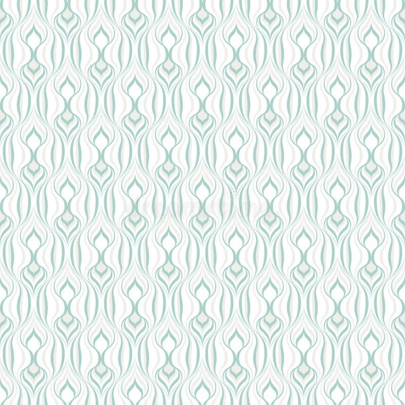 Mod?le sans couture abstrait des lignes onduleuses Formes géométriques arrondies illustration de vecteur