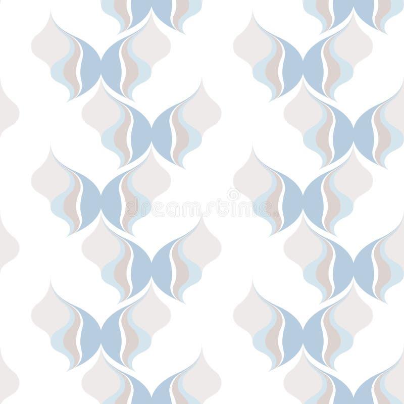 Mod?le sans couture abstrait des lignes onduleuses Formes g?om?triques arrondies illustration stock
