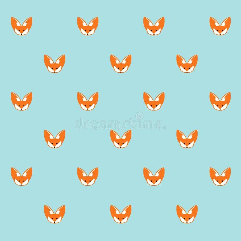 Mod?le sans couture animal de vecteur mignon de bande dessin?e de Fox illustration stock