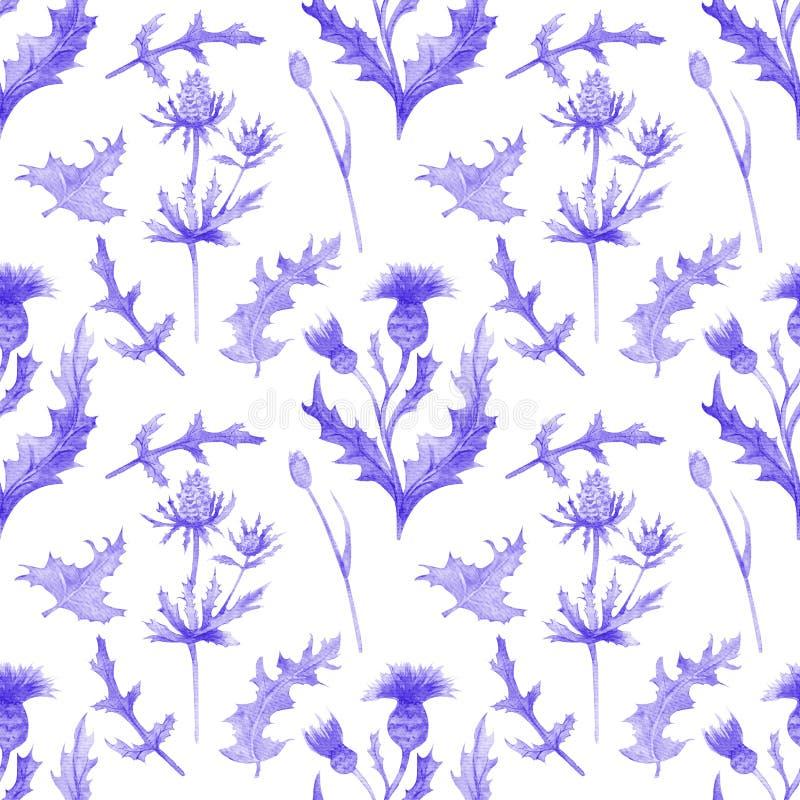 Mod?le sans couture avec des fleurs et des feuilles de ressort Wildflowers sur le fond blanc d'isolement mod?le floral pour le pa illustration de vecteur