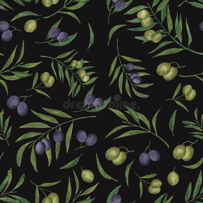 Mod?le sans couture avec des olives illustration libre de droits