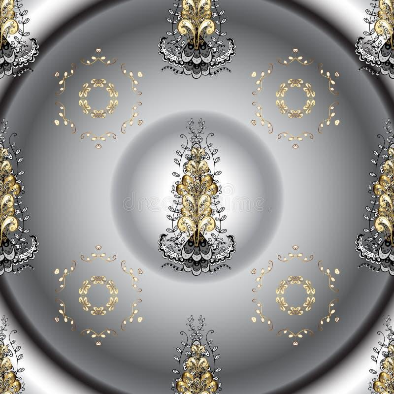 Mod?le sans couture d'or de vecteur classique illustration stock