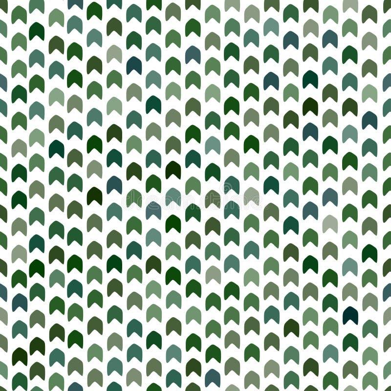 mod?le sans couture dans des couleurs vertes Copie moderne de camouflage Fond de mod?le de Chevron Dessin géométrique kaki illustration de vecteur