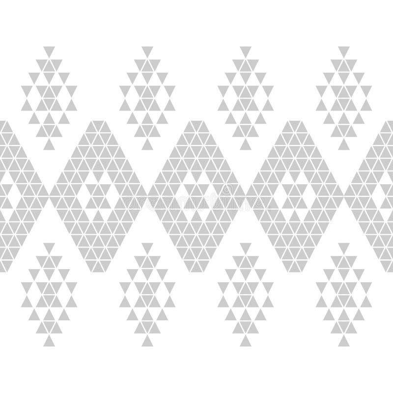 Mod?le sans couture de boho ethnique Broderie sur le tissu Texture de patchwork tissage Ornement traditionnel Configuration triba photographie stock