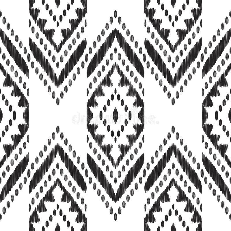 Mod?le sans couture de chevron noir et blanc illustration libre de droits
