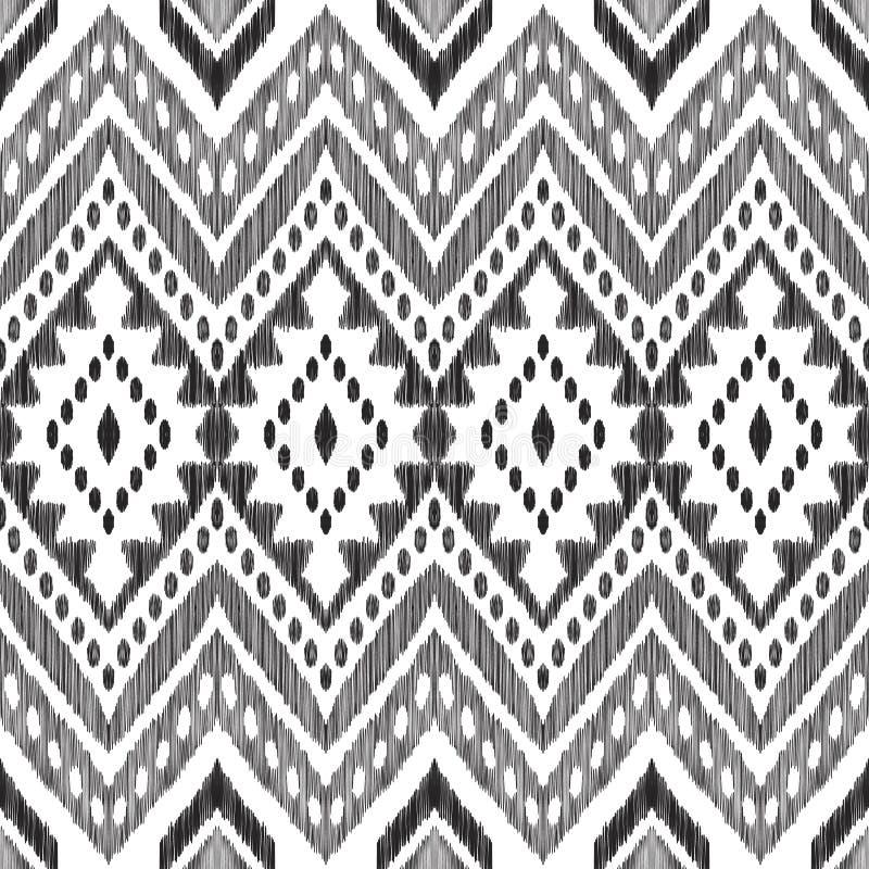 Mod?le sans couture de chevron noir et blanc illustration de vecteur
