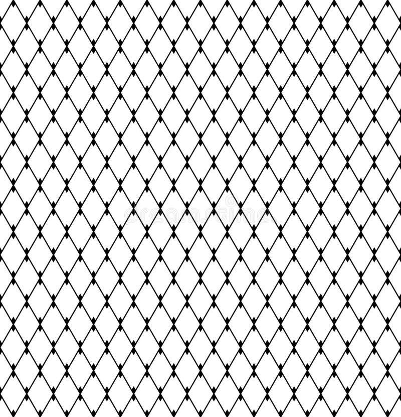 Mod?le sans couture de diamants Treillagez la texture de maille illustration de vecteur