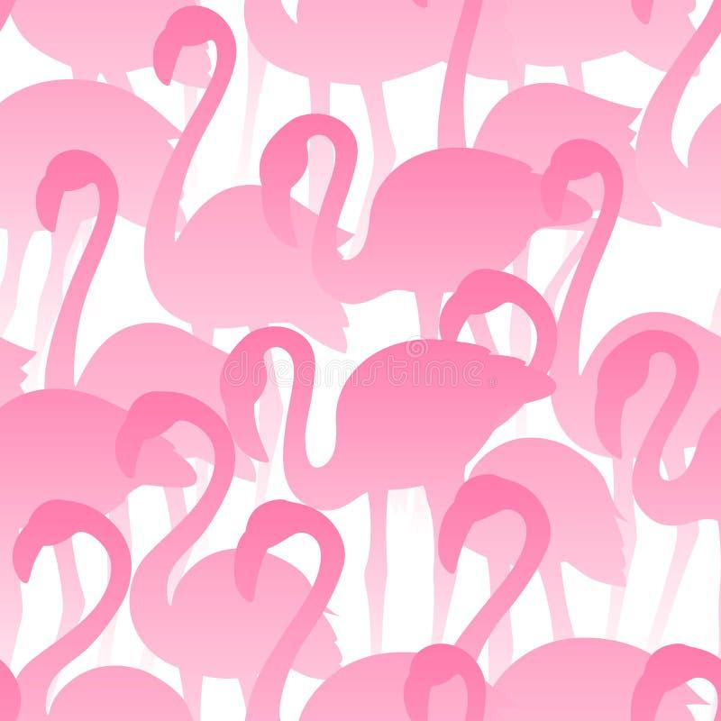 Mod?le sans couture de flamant Texture exotique tropicale de vecteur Oiseaux tir?s par la main illustration stock