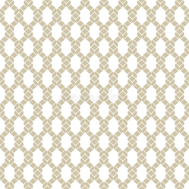 Mod?le sans couture de maille d'or de vecteur Texture avec le filet, cordes, tricotant, grille illustration stock