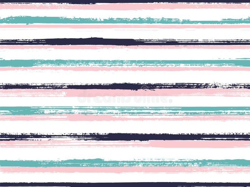 Mod?le sans couture de papier peint int?rieur occasionnel de rayures illustration libre de droits