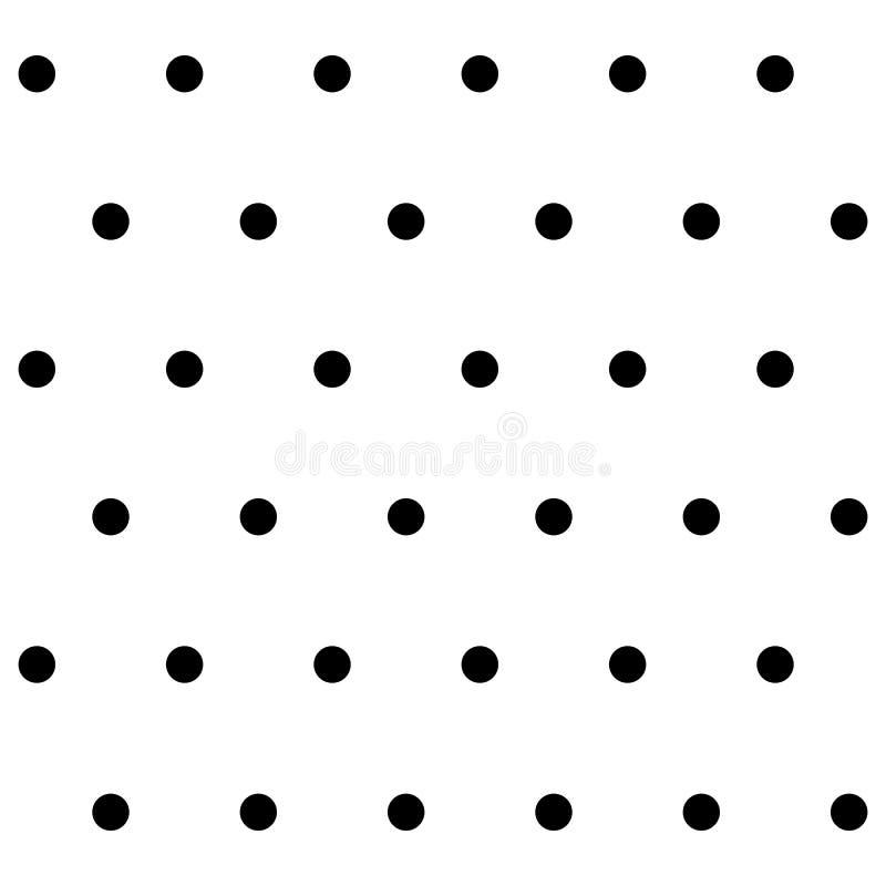 Mod?le sans couture de point de polka Fond blanc de cercle noir Illustration de vecteur illustration libre de droits