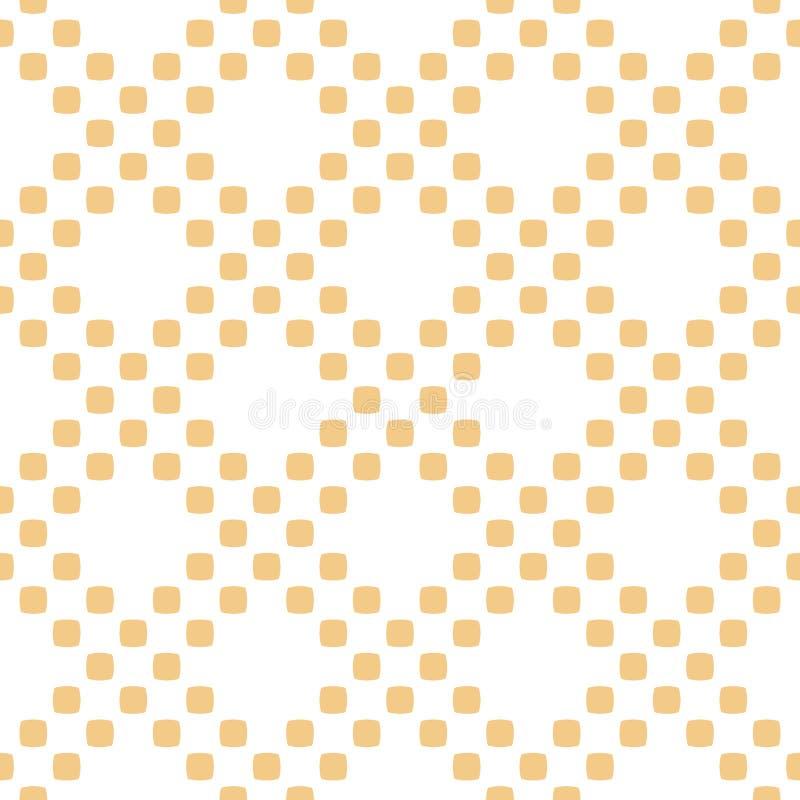 Mod?le sans couture de point de polka de vecteur Texture g?om?trique jaune et blanche abstraite illustration libre de droits