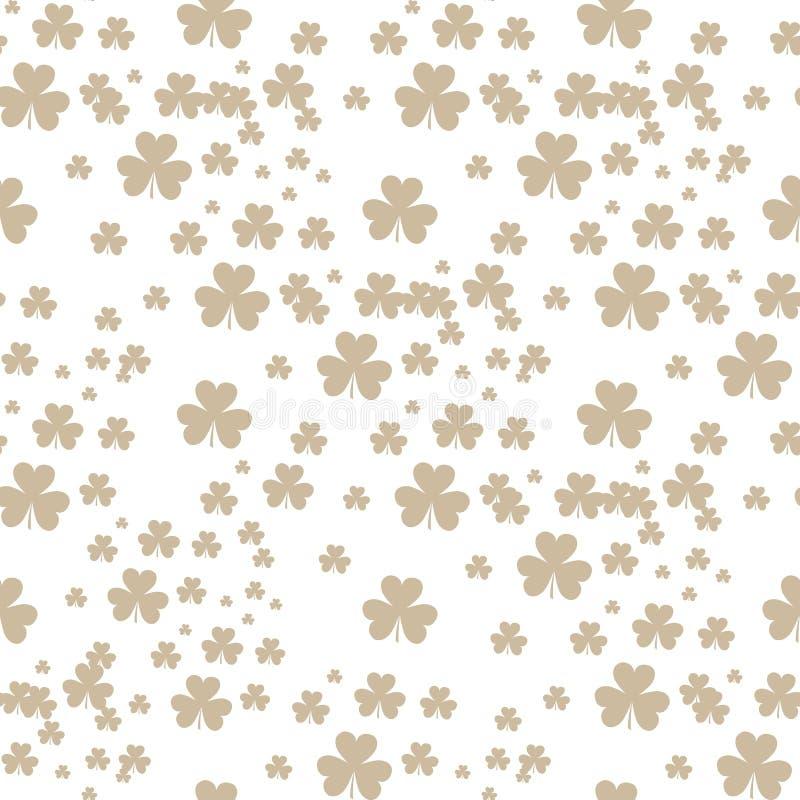 Mod?le sans couture de tr?fle de jour de St Patrick s Illustration de vecteur pour la conception chanceuse de ressort avec l'oxal illustration de vecteur