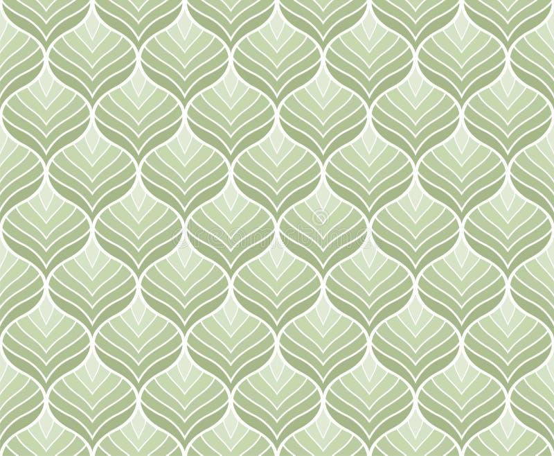 Mod?le sans couture de vecteur g?om?trique de feuilles Texture abstraite de vecteur Fond de feuille illustration de vecteur