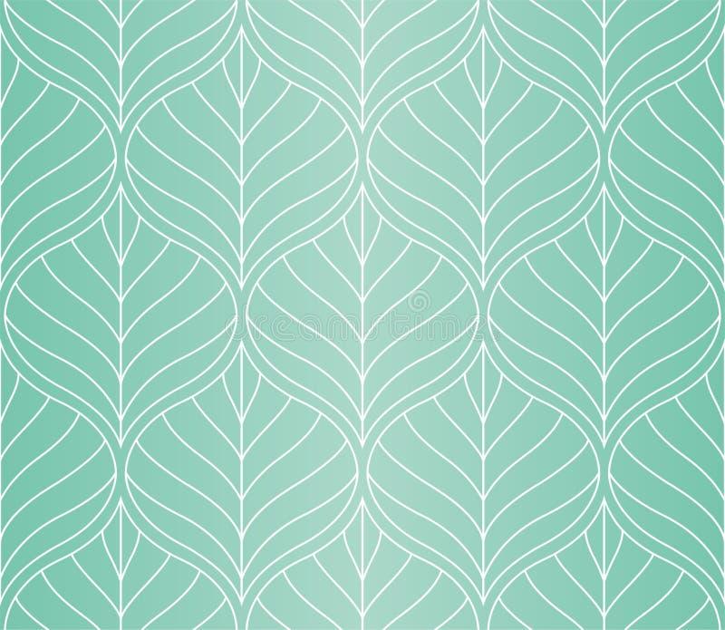 Mod?le sans couture de vecteur g?om?trique de feuilles Texture abstraite de vecteur Fond de feuille illustration libre de droits