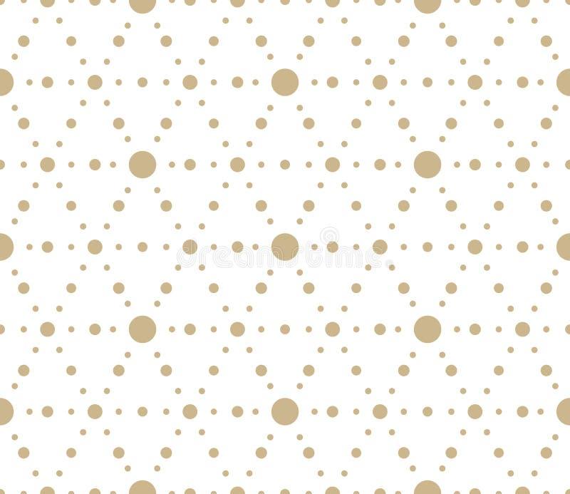 Mod?le sans couture de vecteur g?om?trique simple moderne avec des fleurs d'or, ligne texture sur le fond blanc Abstrait l?ger illustration de vecteur