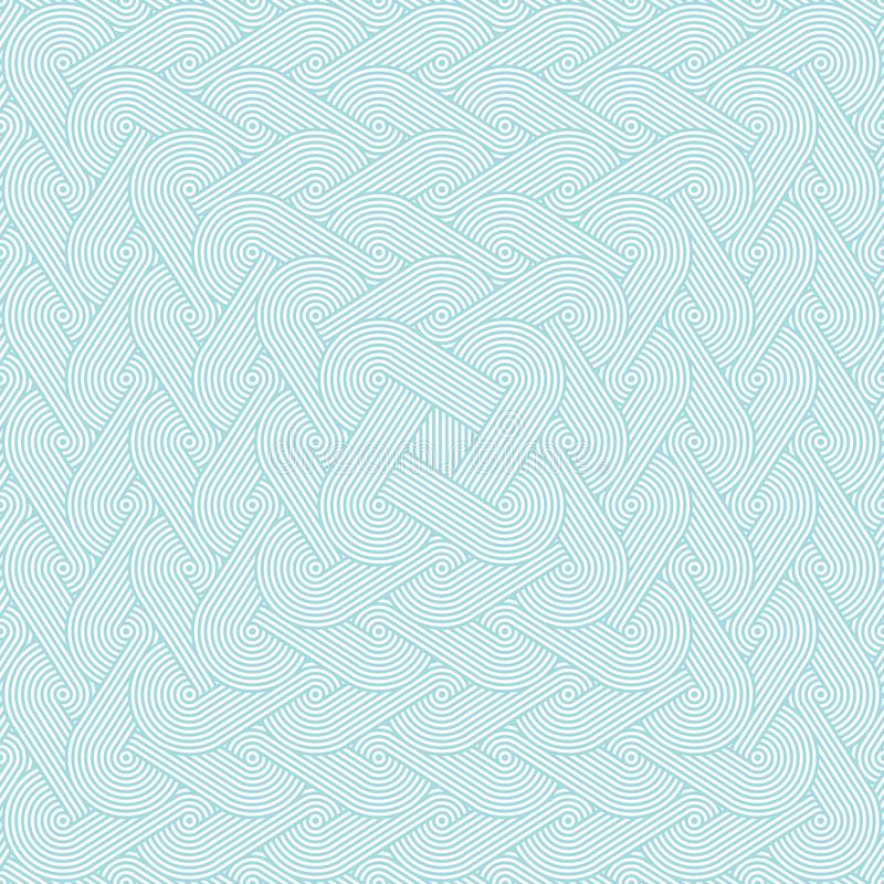 Modèle sans couture dense avec répéter des rangées des cercles concentriques illustration libre de droits