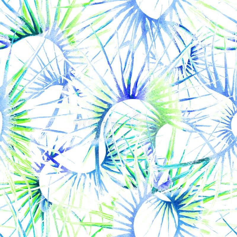 Mod?le sans couture en pastel tropical Jungle d'?t? illustration stock