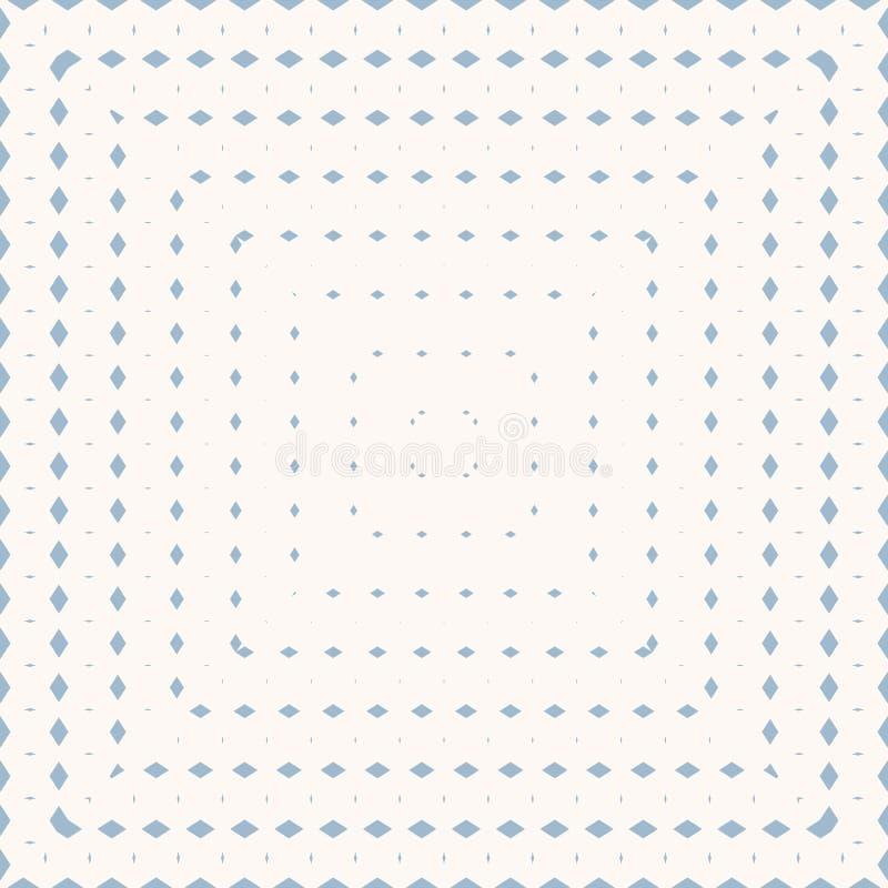 Mod?le sans couture g?om?trique bleu et blanc avec de petits losanges, diamants, grille illustration de vecteur