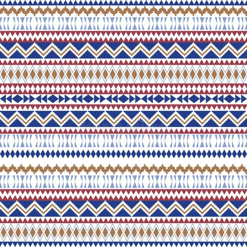 Mod?les sans couture ethniques Milieux g?om?triques azt?ques Tissu ?l?gant de Navajo Texture tribale de fond Papier peint abstrai illustration libre de droits
