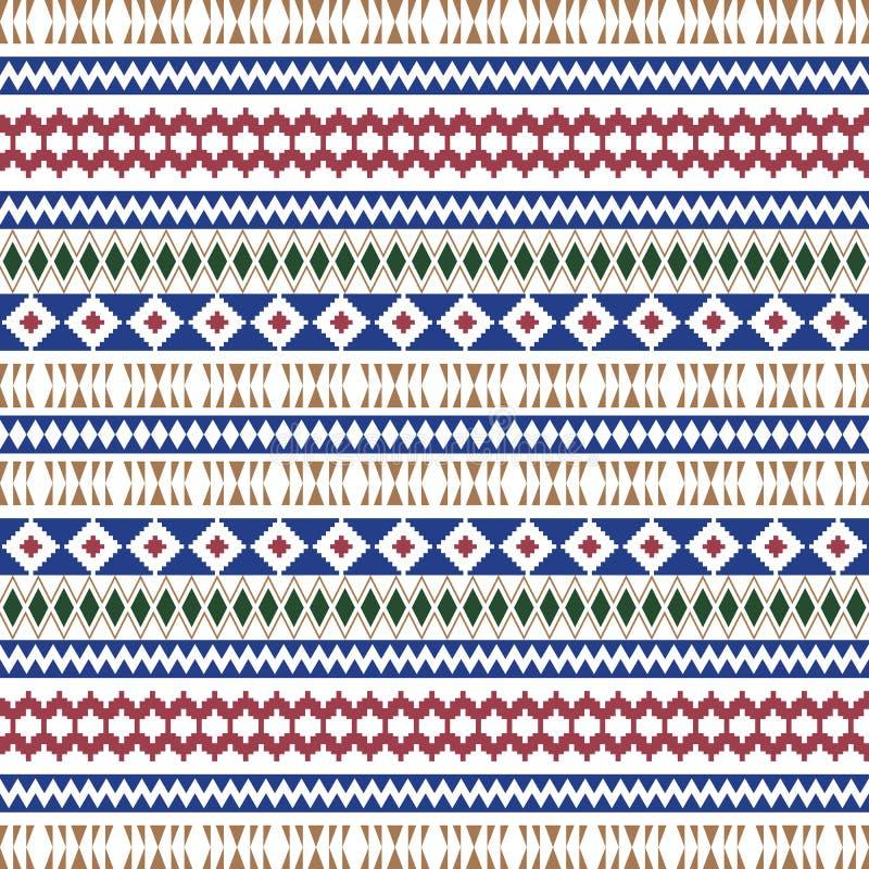 Mod?les sans couture ethniques Milieux g?om?triques azt?ques Tissu ?l?gant de Navajo Texture tribale de fond Papier peint abstrai illustration de vecteur