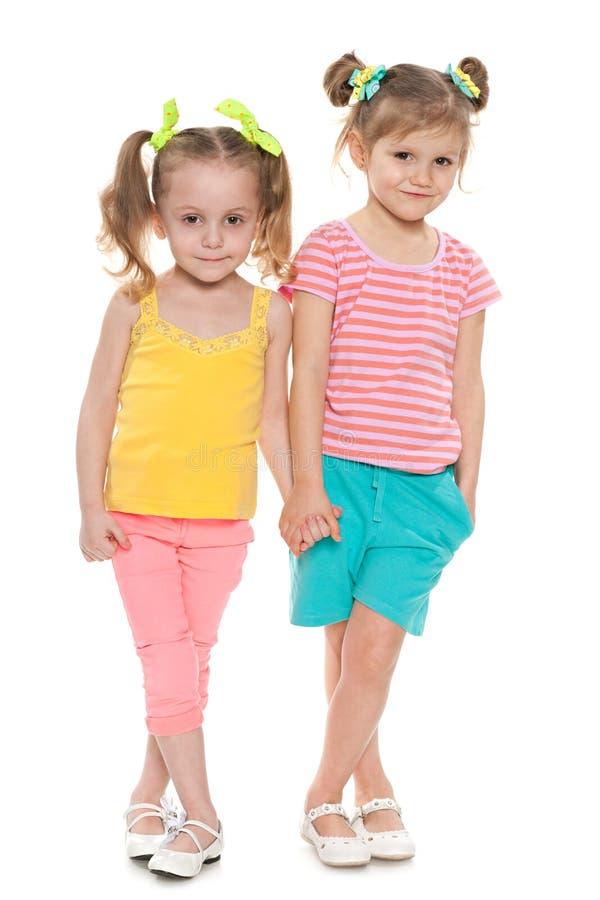 Mod małe dziewczynki zdjęcie royalty free