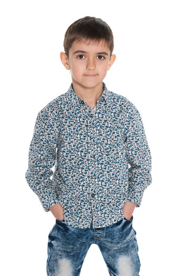 Download Mod potomstw chłopiec obraz stock. Obraz złożonej z uśmiech - 41951549