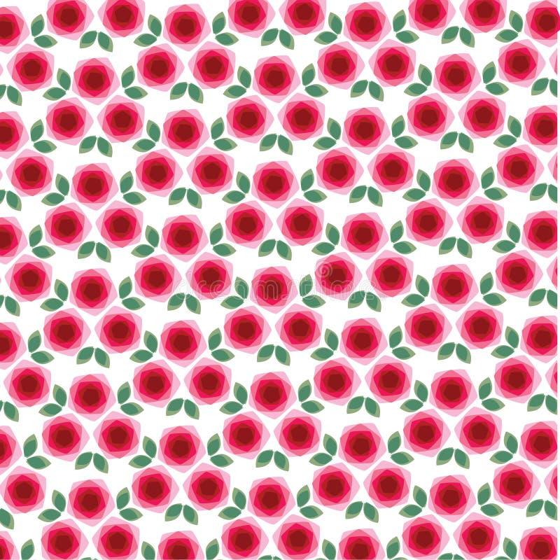 Mod.-rozen achtergrondpatroon vector illustratie