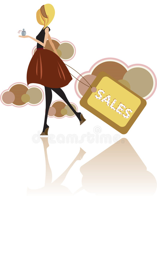 mod sprzedaże royalty ilustracja