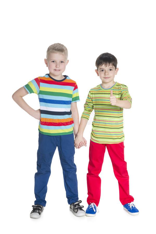 Mod szczęśliwe młode chłopiec obraz royalty free